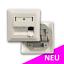 Indexbild 1 - Datendose Netzwerkdose 3-Port Unterputz RJ45 weiss Keystone Modul (leer)