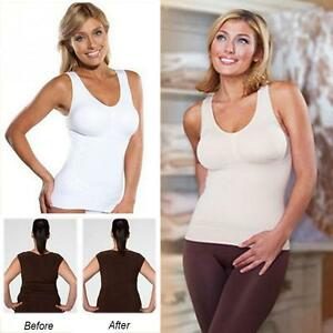 81ab029a78838 US Women Comfortable Wireless Camisol Tank Top Slim Up Lift Bra Body ...
