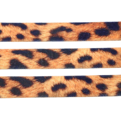 15-40MM Leopard Snake Ribbon Printed Grosgrain Clothing DIY Materials Cord 5Yard