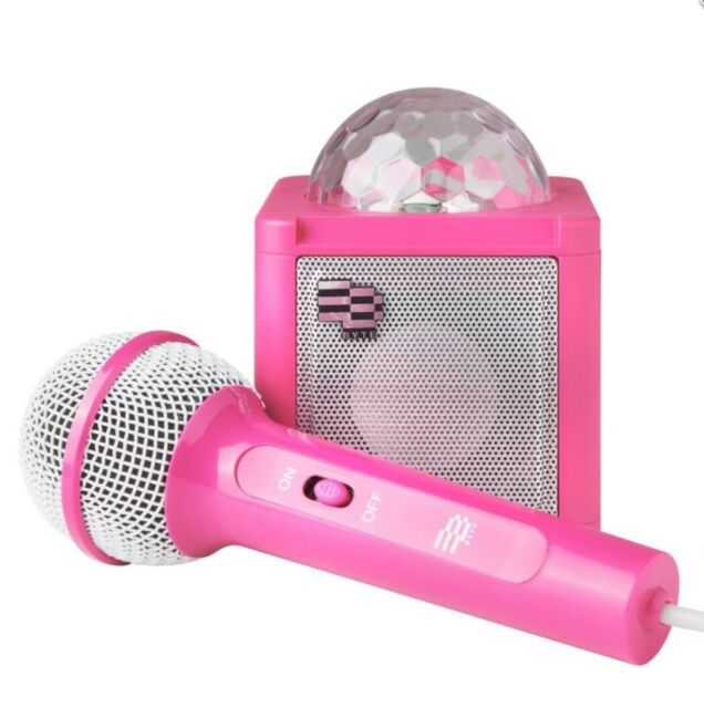Disco Ball Karaoke Speaker With Microphone Bluetooth by Byte .pink .new