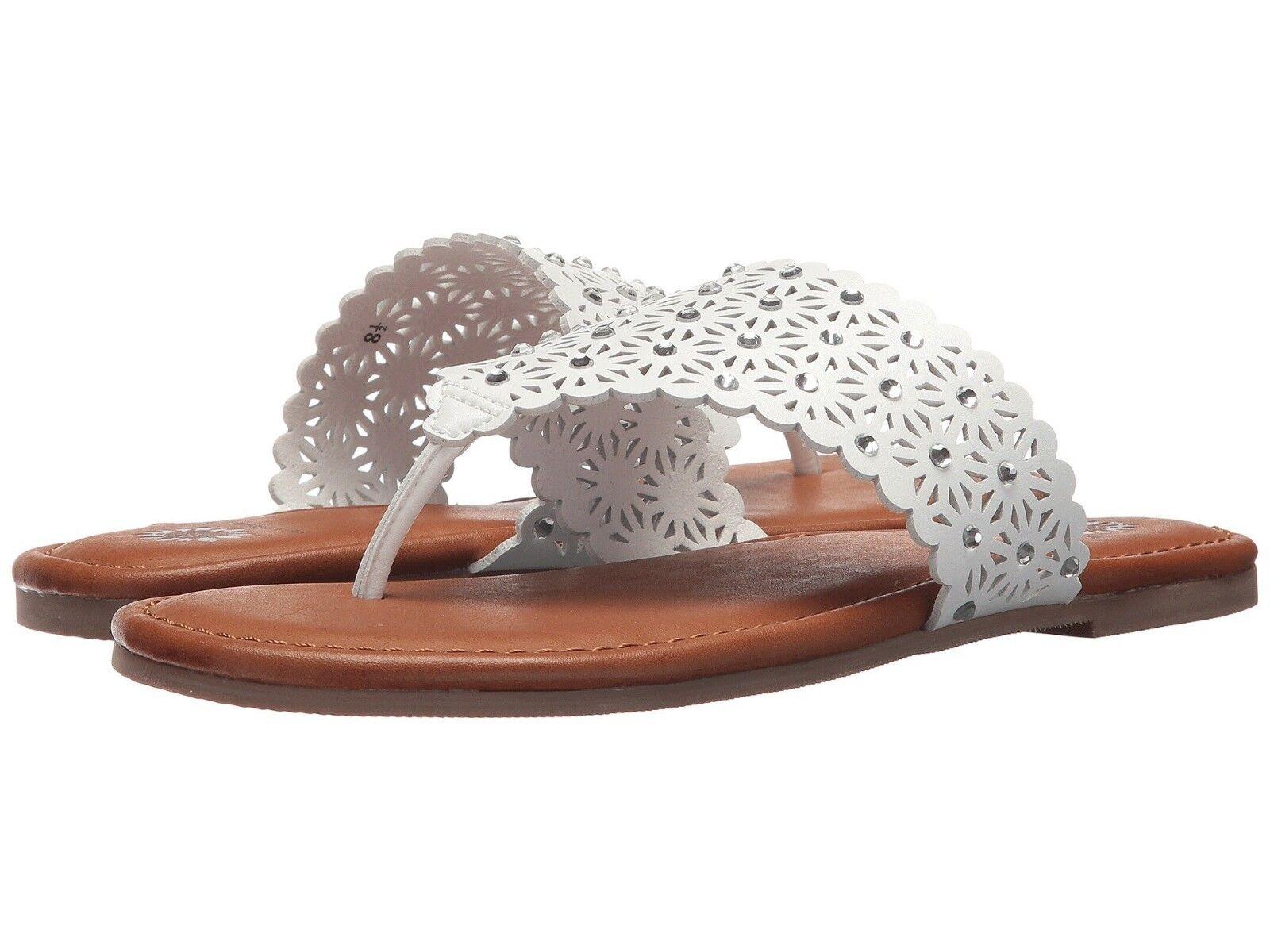 Women's shoes Yellow Box Tessie Flat Sandal Sandal Sandal 37656 WHITE  New 0fb02f