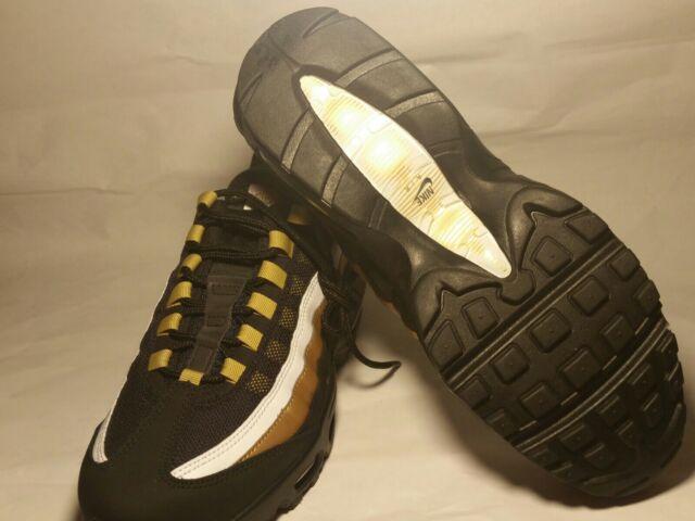 the latest 9d9da b5e19 New Nike Air Max 95 OG AT2865-002 BLACK/METALLIC GOLD sz mens 8.5 women's 10
