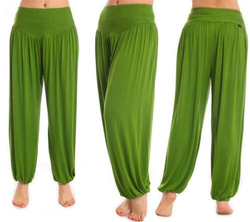 Damen Haremshose Chiffon Yogahose Boho Strand Hippie Yoga Hosenrock Stoffhose 44