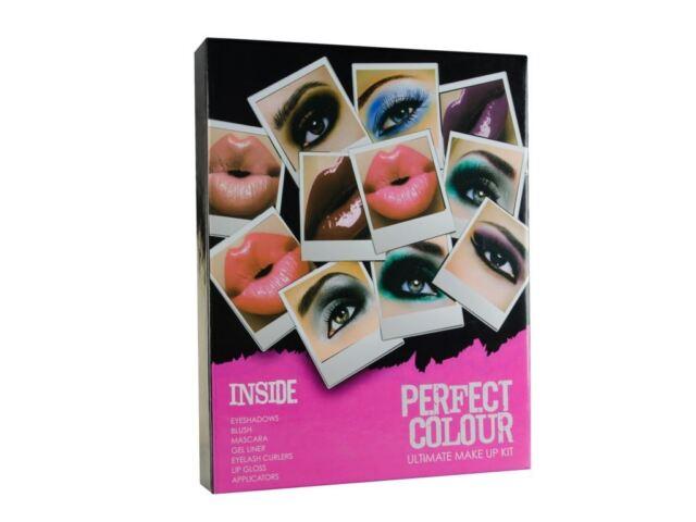 Perfect Colour Ultimate Make Up Kit Eyeshadow Liner Blush Brushes Cosmetics