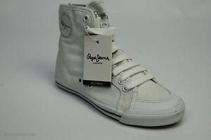 Pepe Jeans BNJ-230D W/J/L Sneaker Girl 35 Jungen Mädchen Unisex Schuhe Weiß