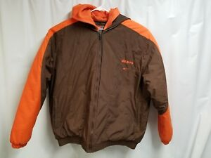 9067cad6369d Image is loading Nike-Cleveland-Brown-Winter-Coat-Size-XXL-Preowned