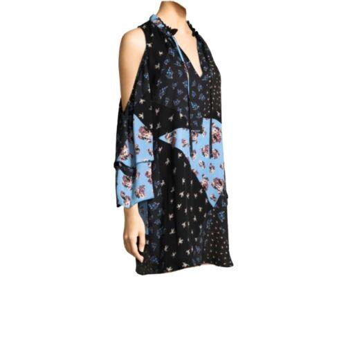 Parker Anastasia Cold-Shoulder Silk Dress