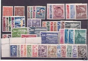 FRANCOBOLLI-1931-1952-JUGOSLAVIA-LOTTO-50-VALORI-INTEGRI-MNH-306