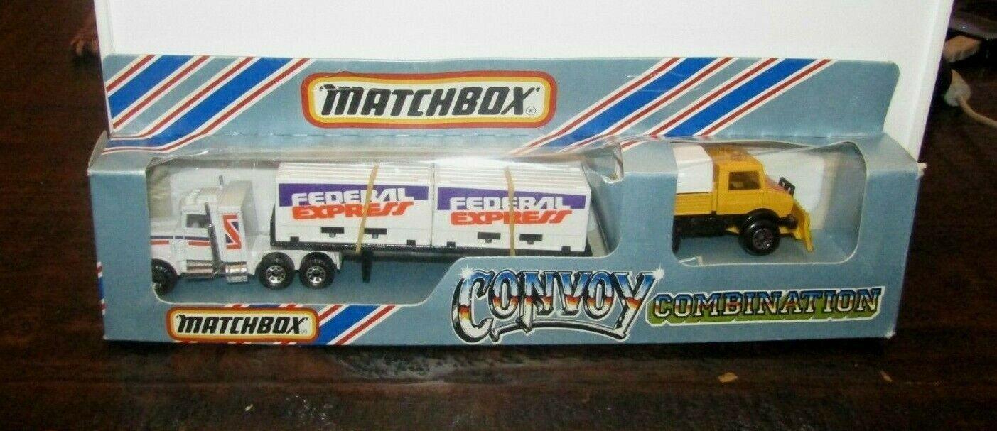 MatchBox TC Team Convoy Federal Express & Unimog (NO RESCUE TAMPO) MIB RARE