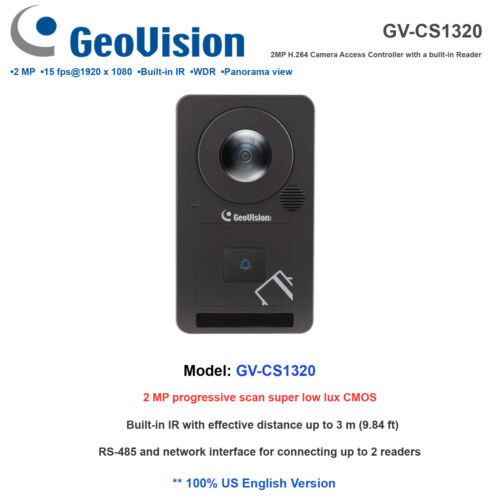 GV-CS1320 2MP Full HD H.264 Camera Access Controller with a built-in Reader//WDR