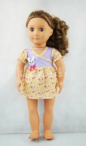 Mouse Pattern Princess Dress Fit For 18/'/' American Girl Doll Clothes Miniskirt