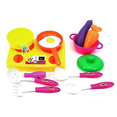 Children Kitchen Food Cooking Role Play Pretend Plastic Boy Girl Toy Toy Gift