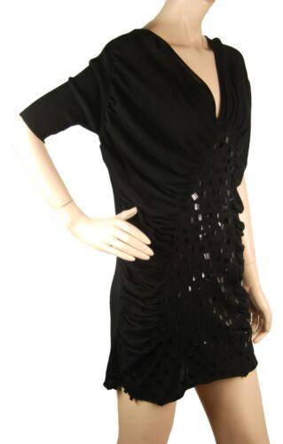Conmigo London mini Cb450 Black Dress Short Sleeve Tunic Glamorous Sequin wwZdqRr