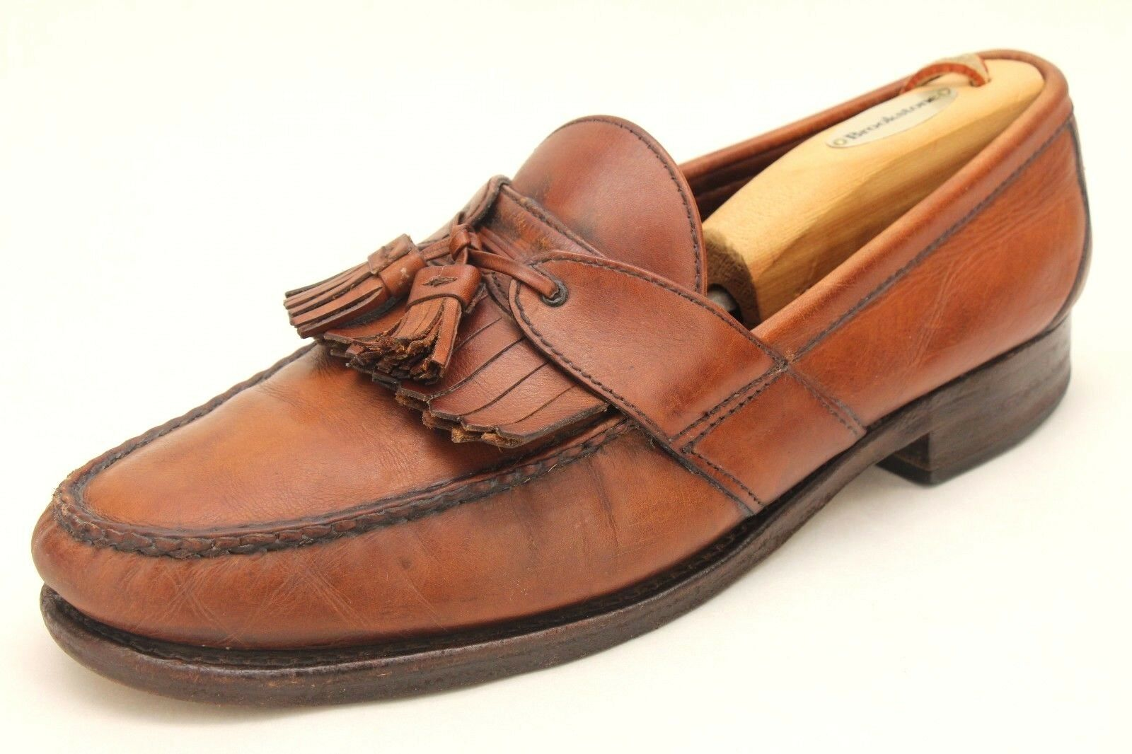 Allen Edmonds Enfield marron Leather Kiltie Tassel Loafers Taille 10 C Narrow