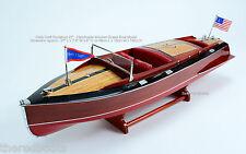 "Chris Craft Runabout 27"" - Handmade Wooden Speedboat Model"