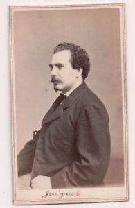 Vintage-CDV-Juignet-French-Victorian-Actor-Tax-Stamp