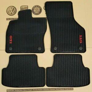 VW-Golf-7-original-GTI-Fussmatten-Gummimatten-vorne-hinten-MK7-TCR-Gummifussmatten