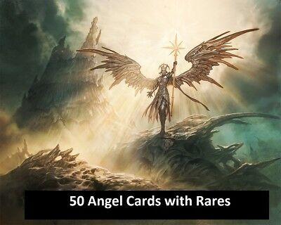 At least 20 Rares 50 Different Angel Card Lot Magic MTG FTG Commander