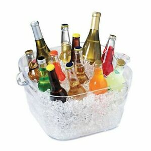 All-Occasions-Serroni-Unbreakables-Square-Party-Tub-Ice-Bucket-Bars-Restos