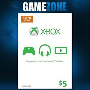 Details about Xbox Live $5 USA Gift Card Points USD Dollars For Microsoft  Xbox 360 / Xbox One