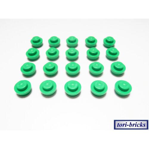 Plättchen 1x1 rund hell grün 20 Stück »NEU« # 4073 Lego Platte