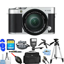 Fujifilm X-A3 Mirrorless Digital Camera with 16-50mm Lens (Silver) PRO KIT NEW!!