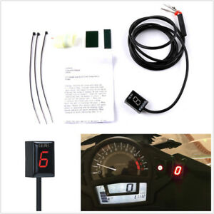 Red Idea Waterproof Motorcycle Gear Indicator LED Display Plug /& Play for Honda