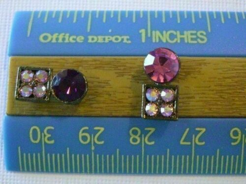 2 Hole Slider Beads Shapes Amethyst Crystal Made with Swarovski Elements #8