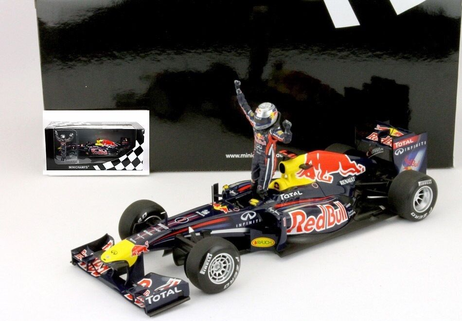 SOLD OUT Sebastian Vettel WC rosso Bull RB7 1:18 Minichamps +FREE F1 PC n/ exoto 2