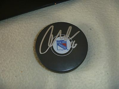 Aggressive Derrick Brassard New York Rangers Signed/auto Puck Coa Orders Are Welcome. Autographs-original Pucks