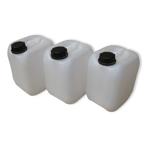 3 Stück 5 Liter Kanister natur Camping Plastekanister Wasserkanister NEU DIN51.