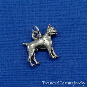 Silver-BOXER-DOG-CHARM-Puppy-English-Bulldog-PENDANT-NEW