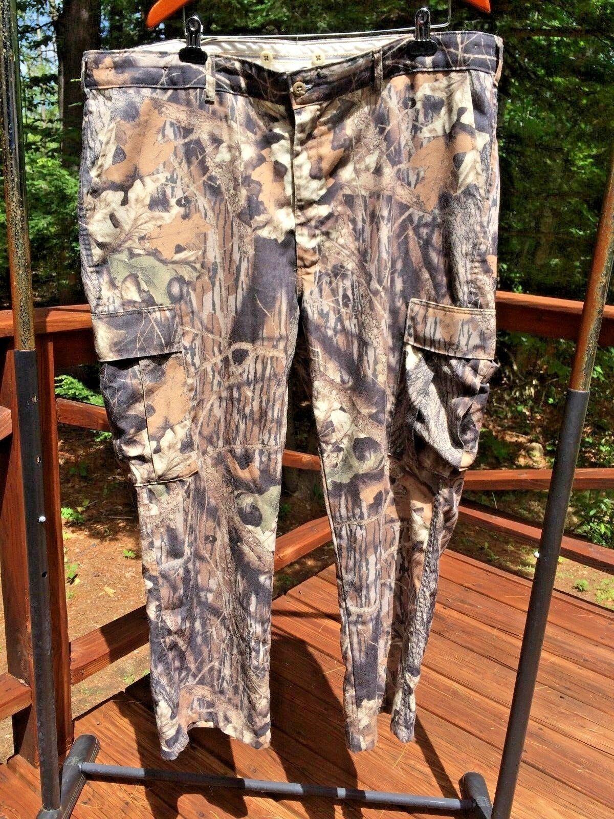 NEW L.L. Bean Vintage Men 44 Dacron Poly Camouflage Camo Hunting Cargo Pants USA