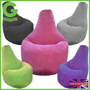 Tremendous Details About Beanbag Gamer Corduroy Arm Chair Adult Gaming Bean Bag Ocean Cord Game Seat Pod Machost Co Dining Chair Design Ideas Machostcouk