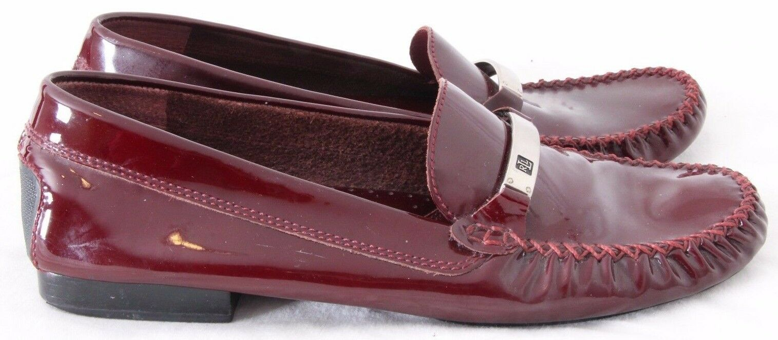 Ralph Lauren Jo Patent Stitched Driving Moccasin Loafers Flats Women's US 7AA