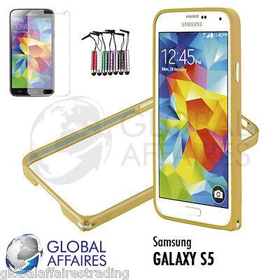 Bumper etui coque aluminium Samsung Galaxy S5 Bumber case cover+ film protection