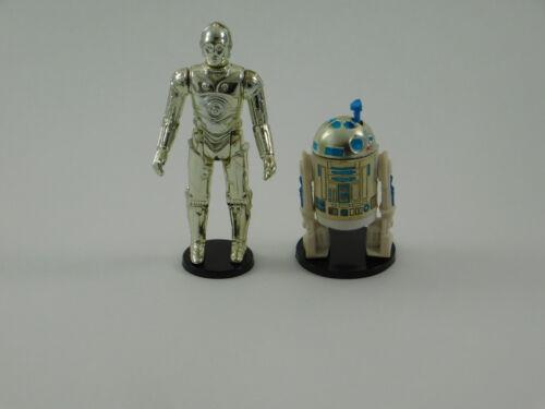 "Wide Stance 10 x Vintage Star Wars Black 1.5/"" Figure Display Stands T2b"