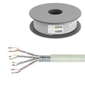 100m 0,33€/m CAT 6 SFTP PiMF doppelt geschirmt Kabel Netzwerk Patchkabel LAN