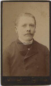Ritratto Un Uomo Parigi CDV Eugene Pirou Vintage Albumina Ca 1890