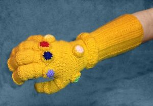 Details about KNITTING PATTERN - Infinity Gauntlet inspired Avengers War  Glove - fits Adult