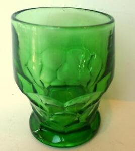 Anchor-Hocking-Georgian-Green-Small-Tumbler-Drinking-Glass