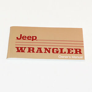 jeep owners manual 1988 or 1989 jeep wrangler yj ebay rh ebay com 1990 jeep yj owners manual 1995 jeep yj owners manual