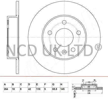 JURATEK REAR BRAKE DISC FOR OPEL ZAFIRA B 1.9 CDTI 1910CCM 120HP 88KW DIESEL