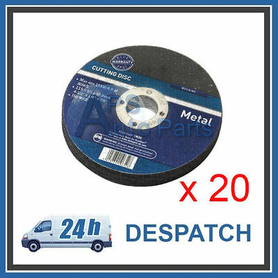 "20 x New Metal Cutting Discs 3mm Thick 22.2m Bore 4 1/2"" 115mm Professional"