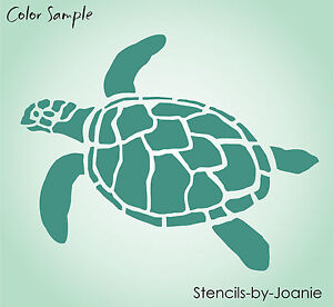 Image Is Loading Turtle Stencil Ocean Sealife Sand Beach Animal Tortoise