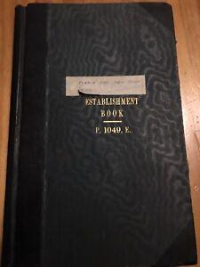 Antique-Ledger-1930s-40s-Ww2-Post-Office-Establishment-Book-Wakefield-Ossett