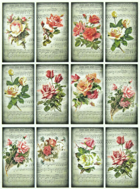 Rice Paper for Decoupage Scrapbooking SheetsVintage Rose Sonata