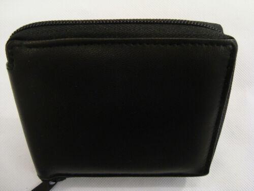 Gents Cuir Souple Zip Around Wallet avec espace pour 14 cartes RFID Protection