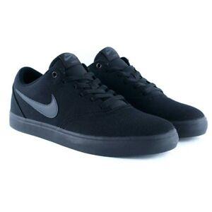 bb948ec90c3 Nike SB CHECK SOLAR CNVS Black Anthracite 843896 002 Mens Shoes Fast ...