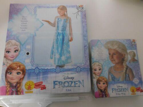 Disney Frozen Eiskönigin Elsa Kleid Kostüm Neuware Perücke